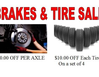 Brake and Tire Sale Going on NOW!