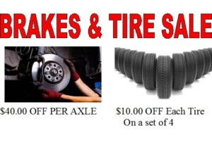 BRAKE AND TIRE SALE